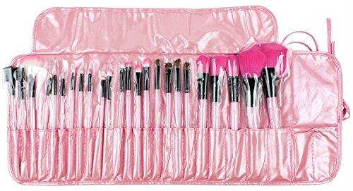 24pcs laine maquillage professionnel brosse cosmétiques Kit Pinceaux & instruments Make Up Case