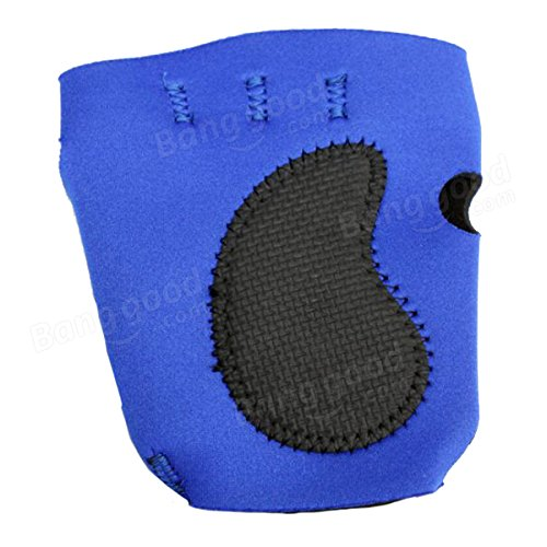Sports Outdoor Bicycle Rubber Protecting Palms Grips Gloves 1 Pair Blue by Freelance Shop SportingGoods (Image #2)
