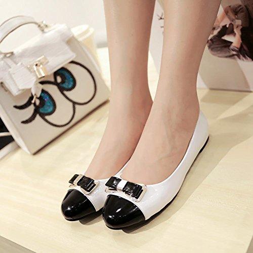 Ballet De Bow Latina Femmes Mignonne Chaussures Blanc (couleur Principale)