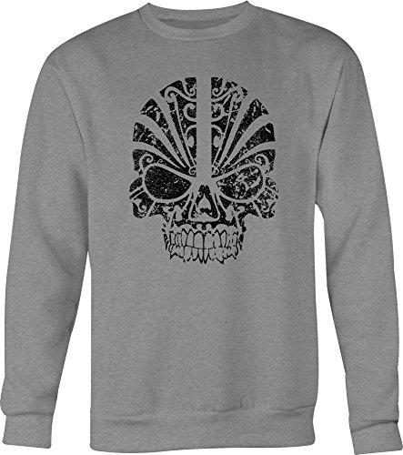 (Tribal Skull Mask Crewneck Shirt for Men- 3XL )