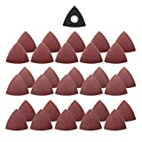 Pukido 31pcs 60/80/120 Grit Sand Paper with Triangular Sand Disc for Bosch Fein Multimaster