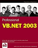 img - for Professional VB.NET 2003 book / textbook / text book