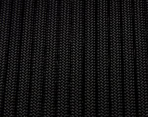 Black Paracord, 50 feet, Type III, 550 lb, 7 strand, Commercial version of Mil-Spec Mil-C-5040