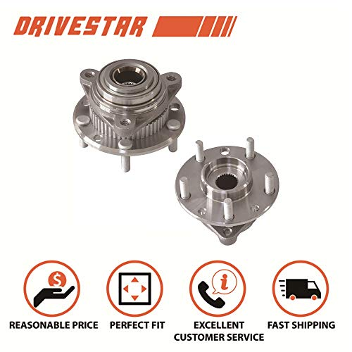 DRIVESTAR 513061x2 Pair 2 New Front Wheel Hubs & Bearings fit Bravada Jimmy S10 Blazer 4WD ABS ()