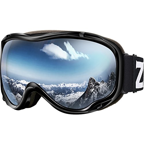 Womens Ski Snowboard Goggles - Zionor Lagopus Ski Snowboard Goggles UV Protection Anti-Fog Snow Goggles for Men Women Youth