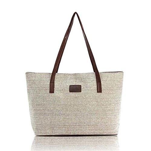 Shoulder Shopping donne Cachi Longra Handbag Lino moda Totes di Bags Le Canvas Casual Y6q4Sx