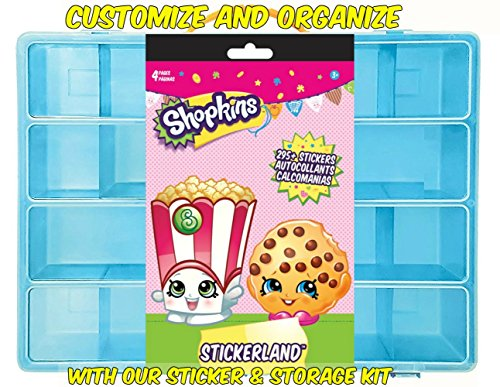 Official Shopkins Sticker Book + Mini Figures Compatible Storage Organizer. Stores Up to 100 Shopkins Mini Figures. Customize Your Children's Storage Box With This 295 Sticker (Golden Globe Costume)