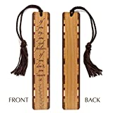 If You Try - Risk- Inspirational Quote Engraved Wooden Bookmark with Tassel - Personalized version also available - search B072FGR7NMS
