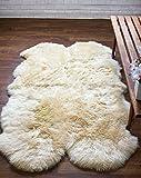 Super Area Rugs Genuine Large Sheepskin Rug 4X6