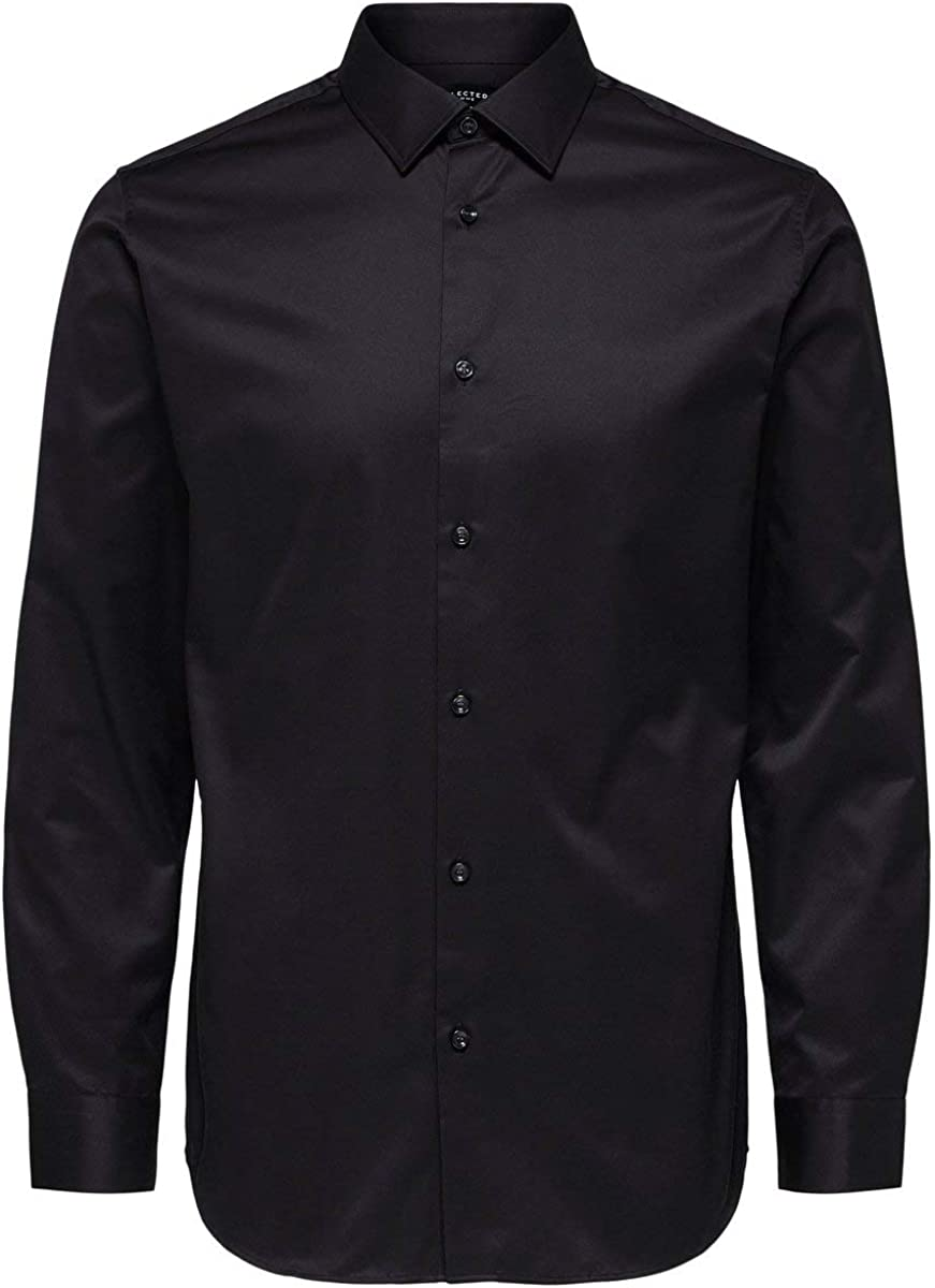 SELECTED HOMME Slhslimpen-Pelle Shirt LS B Noos Camisa para Hombre