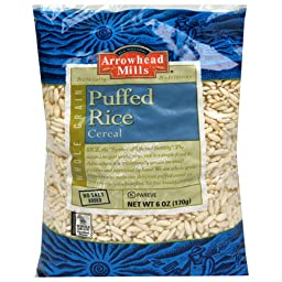 Arrowhead Mills Cereal, Puffed Rice, 6 Ounce (Pack of 12)