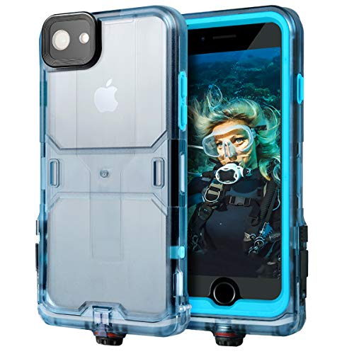 "iPhone 7/8 Waterproof Case, Waterproof Phone Case with Armband, Full Sealed IP68 Certified Case with Screen Protector & Viewing Stand for Running, Diving,Compatible with iPhone 7/8 (4.7"")"