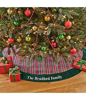 ... Personalized Classic Plaid Christmas Tree Skirt ...