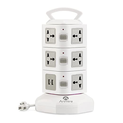 Review Anmire Vertical Power Strip