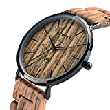BEWELL Wooden Watches for Men/Women Slim Analog Quartz Minimalist...
