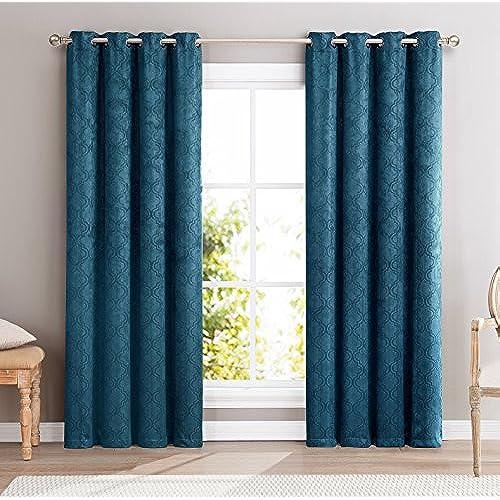 Teal Curtain Panels Amazon Com