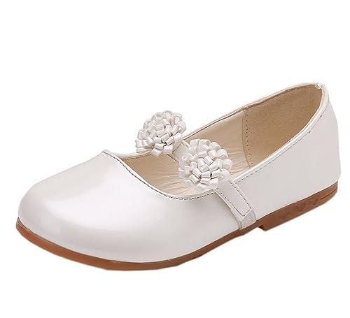 f533da1fe Vokamara Niñas Zapatos Escolares Correa de la Flor Manoletinas para Boda  Fiesta  Amazon.es  Zapatos y complementos