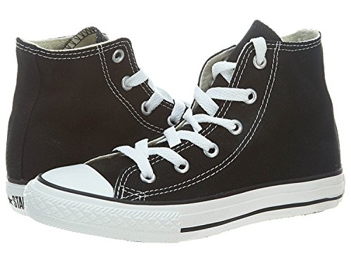 Converse Yths Chuck Taylor All Star Hi Black Little Kids 3J231 (3) Converse Chucks Hi