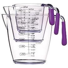 Kitchen Craft Colourworks Liquid Measuring Cup Set - Polycarbonate - Purple