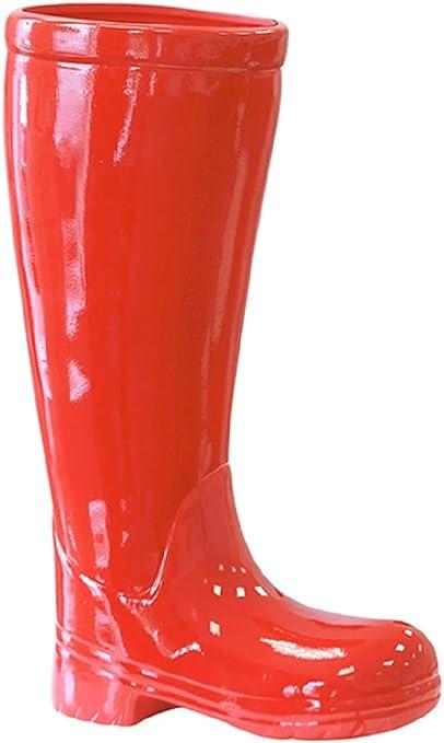 Portaombrelli A Forma Di Stivale.Portaombrelli Stivali In Ceramica Rossa 45 Cm Di Altezza Amazon It Casa E Cucina