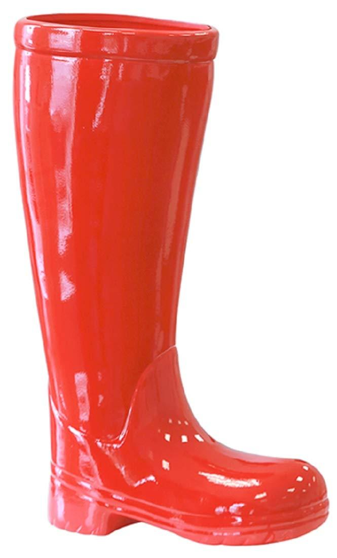 Portaombrelli stivali in ceramica rossa 45 cm di altezza Casablanca