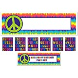 Amscan Groovy 60's Personalize It! Giant Party Sign Banner, 65'' x 20'', Multicolor