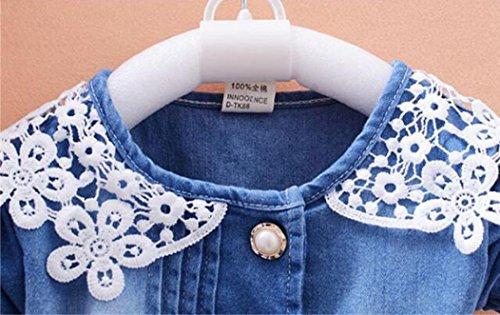 Amlaiworld Manches 24mois Denim Bowknot Courtes Fille Bleu2 De Princesse Florale D'impression En Tenue Robe ❤️robe Filles Pour 0 USzwZrUq