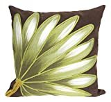 Liora Manne Mystic II Victory Flower Indoor/Outdoor pillow, Chocolate - 20'' Square