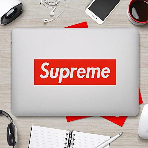 Supreme Sticker [5 PCS, 7.5 x 2.1 inch Box Logo] Waterproof Vinyl Supreme Stickers for Laptop, Car, Helmet, Skateboard, Luggage.