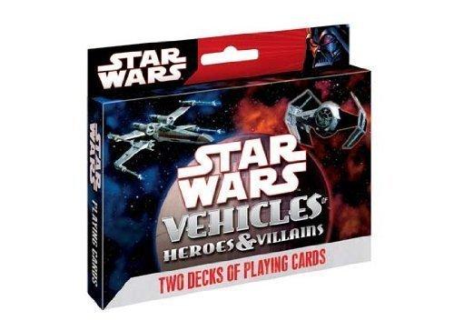 Cartamundi Star Wars Heroes & Villains: Vehicles 2-deck Tin Set ()