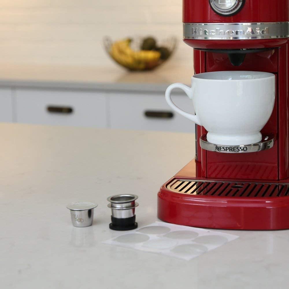 compatible con OriginalLine Sellador de acero inoxidable Pods recargables para m/áquinas Nespresso C/ápsulas Nespresso Reutilizables