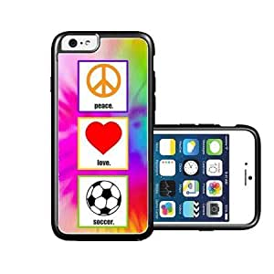 RCGrafix Brand Love Peace Soccer iPhone 6 Case - Fits NEW Apple iPhone 6