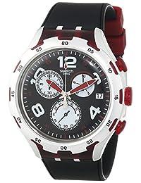 Swatch Men's YYS4004 Irony Analog Display Swiss Quartz Black Watch