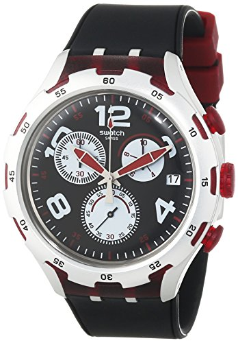 Amazon.com: Swatch Mens YYS4004 Irony Analog Display Swiss Quartz Black Watch: Swatch: Watches