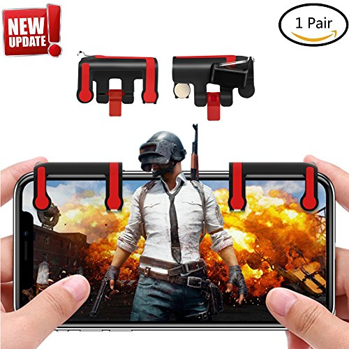 Royale Handle - Mobile Game Controller [Upgrade Version]- JEFFWARE Sensitive Shoot and Aim Buttons L1R1 phone shooter Trigger for PUBG/Knives Out/Fortnite/Rules of Survival/Royale/Critical Ops for Android IOS 1 Pair