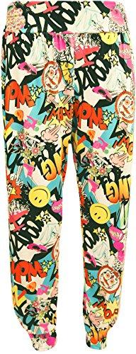 Alibaba Tailles Harem Imprimé À 42 Femmes Pantalons Wearall Comic 36 5dEXwqn