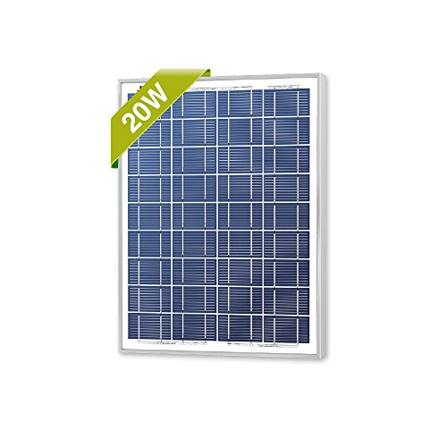 Newpowa 20W(Watt) Solar Panel Monocrystalline12V High Efficiency PV Module For Rv Marine Boat Water Pump Off Grid