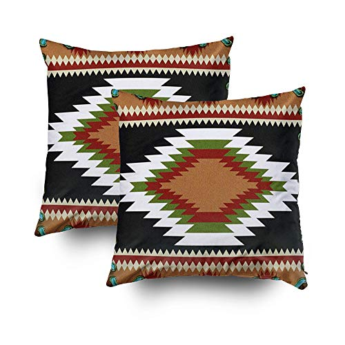 - TOMWISH Hidden Zippered Pillowcase Christmas Western Southwest Hardeman Tribal Print 18X18Inch,Decorative Throw Custom Cotton Pillow Case Cushion Cover for Home Sofas,Bedrooms,Offices,and More