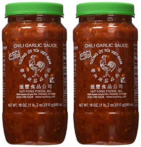 Huy Fong Fresh Chili Garlic Sauce 18-Ounce (Pack of 2)