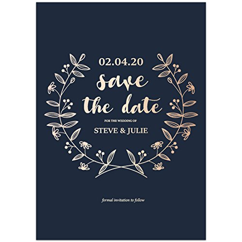 Navy Gradient Save the Date Card Wedding - Gradient Card