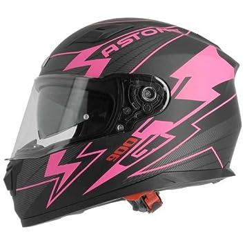 ASTONE casco integral GT900 Arrow talla negro rosa, ...