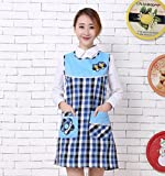 Goodscene Creative Apron Fashion Women Apron- Home Sleeveless Lattice Apron (Blue)