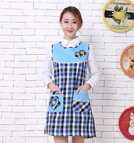 Goodscene Creative Apron Fashion Women Apron- Home Sleeveless Lattice Apron (Blue) by Goodscene