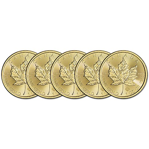 (5) 2016 Canada Gold Maple Leaf 1 oz