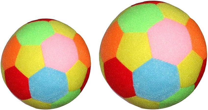 Toygogo 2Pcs 9.5cm 15.5cm Balón de Fútbol Suave para Niños, los ...