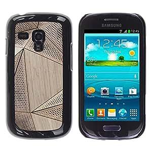 FECELL CITY // Duro Aluminio Pegatina PC Caso decorativo Funda Carcasa de Protección para Samsung Galaxy S3 MINI NOT REGULAR! I8190 I8190N // Wood Architecture Pattern Engineering