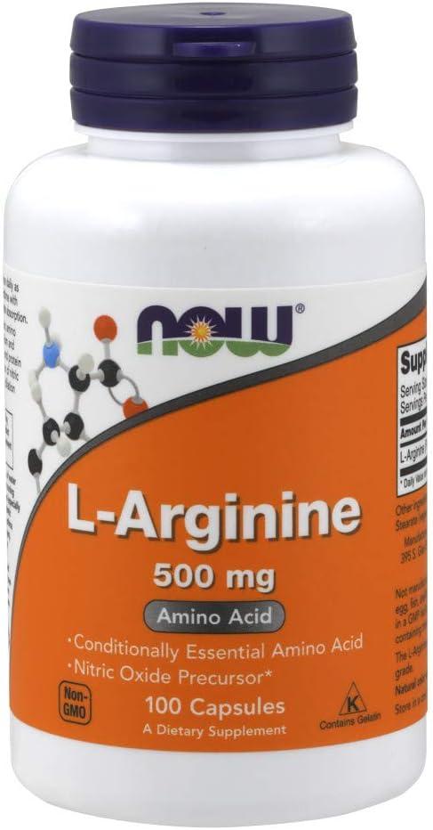 NOW Supplements, L-Arginine 500 mg, Nitric Oxide Precursor*, Amino Acid, 100 Capsules