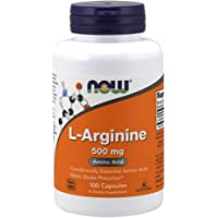 Now Foods L-Arginine 500mg, Capsules, 100ct