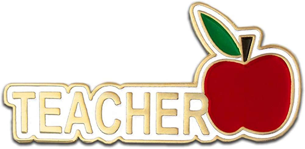 """PinMart Teacher Red Apple Appreciation Gift Recognition Lapel Pin 1-1/4"""""""