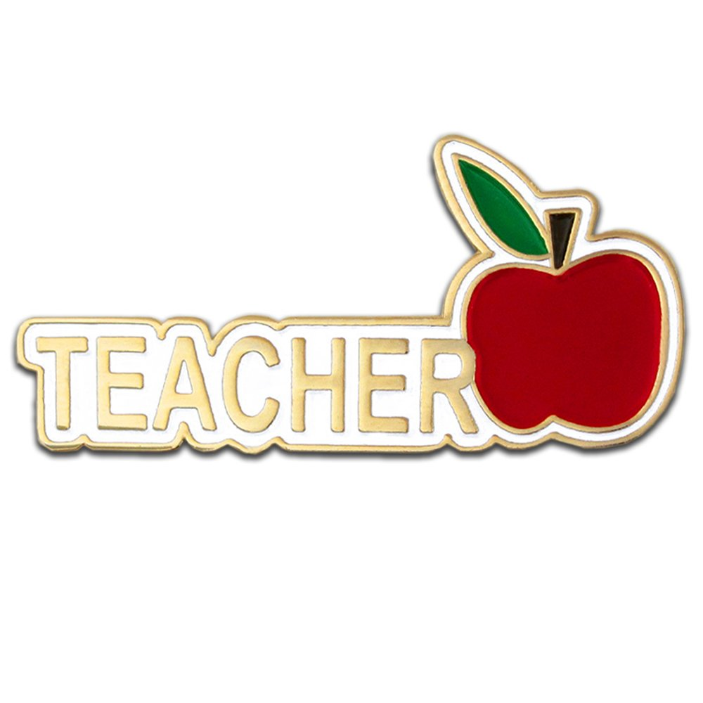 PinMart's Teacher Red Apple Appreciation Gift Recognition Lapel Pin 1-1/4''